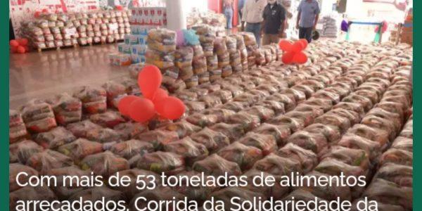 COM MAIS DE 53 TONELADAS DE ALIMENTOS ARRECADADOS, CORRIDA DA SOLIDARIEDADE DA ALEGO BATE RECORDE DE DOAÇÕES